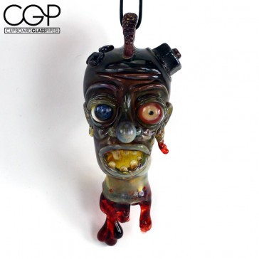 Zach Puchowitz - Fully Worked Sculpted Severed Head Pendant
