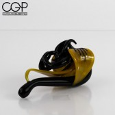 LaceFace Glass - Black and Yellow Flower Sherlock
