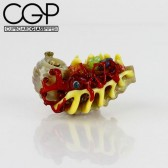 Salt Glass - Inside Out Creature Hand Pipe