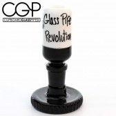Zach Puchowitz - Black and White 14mm Slide with Gear Stand (Glass Pipe Revolution)