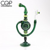 Bry Glass - Green Concentrate Rig with Handle 14mm