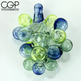 Orian Glass - UV Reactive Unique Sherlock Bubble Pipe