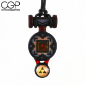 Glass Maze - Black Totem Pendant