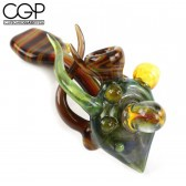 Lay-Z Glass - Fully Worked Sherlock Pipe with Opal Encasement