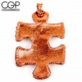 Electroformed Copper Puzzle Piece Pendant