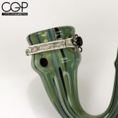 Wire Wrap Sherlock - Green Gem