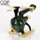 Matt Donofrio Glass - Helicopter Lineworked Green Copter Concentrate Rig