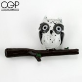 R-Rated Glass - White Spotted Owl Sidecar Pipe
