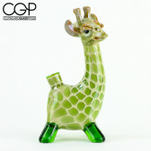 "Matt Robertson - ""Not Impressed"" Classic Sculpted Green Giraffe Concentrate Rig"