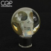 Bob Snodgrass - Large Fumed Skull Marble Masher