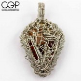 Wire Dreamers - Custome Citrine Wire Wrap Pendant