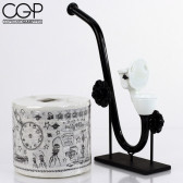 Zach Puchowitz - Toilet Bowl Sherlock With 'Sketch Series' Paper Roll