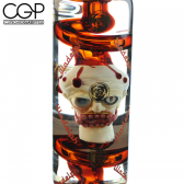 Zach Puchowitz x Illadelph Collaboration - 'Punished Head' Glycerin Coil Water Pipe with Ashcatcher