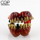 Zii Glass - Sculpted Teeth Dry Hand Pipe